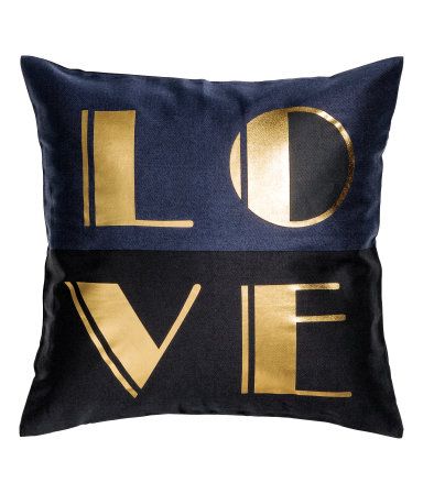 H&M Metallic-print Cushion Cover $9.99