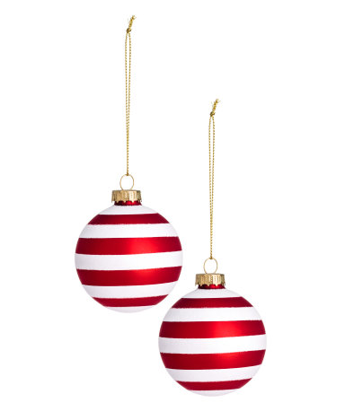 2 pack christmas ornaments white red home h m us for H m christmas decorations