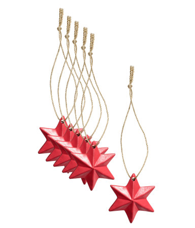 6 pack christmas ornaments red h m home h m us for H h christmas decorations