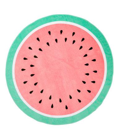 round beach towel watermelon h m home h m us. Black Bedroom Furniture Sets. Home Design Ideas