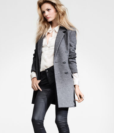 Product Detail | H&M US :  grey coats fall trends fall fashion