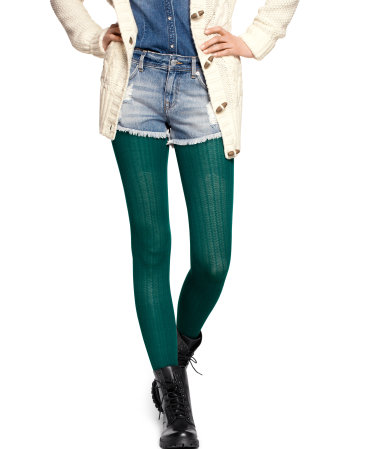 H&M colored tights