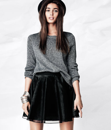 H&M flared skirt