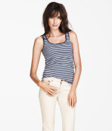 Top in ribbed jersey