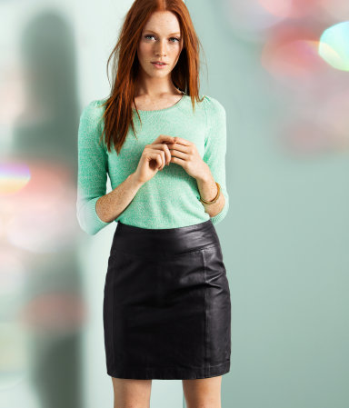 H&M leather skirt from hm.com