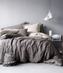 Linen duvet set double
