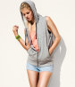 Sleeveless Sweatshirt Jacket