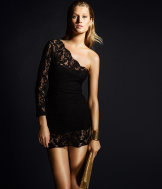 Lace one-shoulder dress