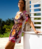 Butterfly sleeve beach tunic