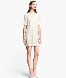 Short embroidered dress