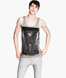 Tank Top with Printed Design