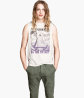 Sleeveless Printed T-shirt