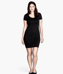 H&M+ Short jersey dress