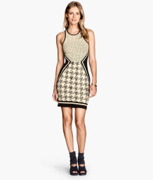 Patterned jersey dress