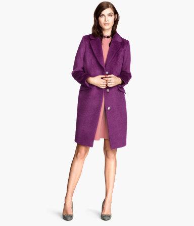 Magenta Wool Coat