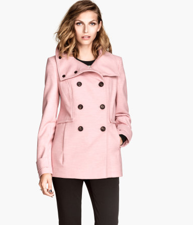 Double-breasted Jacket | Light pink | Women | H&M US