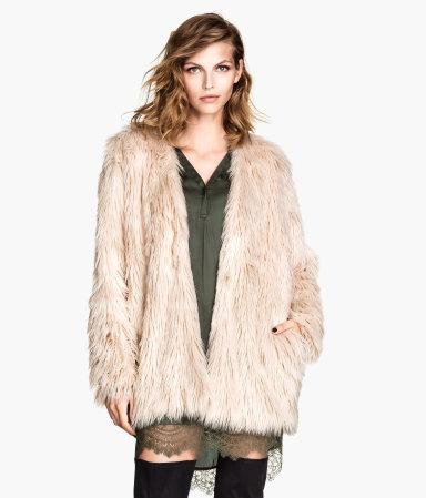 Faux Fur Jacket | Dusty pink | Women | H&M US