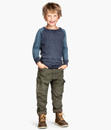 Lined Cargo Pants | Khaki green | Kids | H&M US