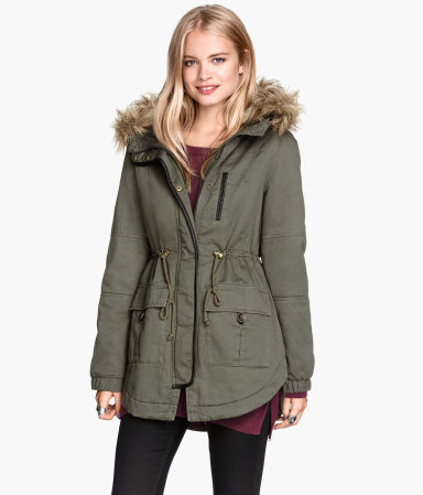Padded Parka | Khaki green | SALE | H&M US