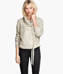 Wide polo-neck jumper