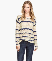 Pattern-knit jumper