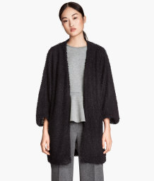 Cardigan with dolman sleeves
