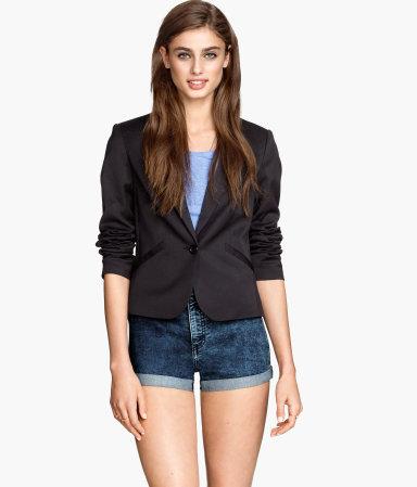 Fitted Blazer | Black | Women | H&M US