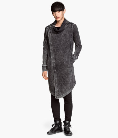 Long Sweatshirt Cardigan | Dark gray | Men | H&M US
