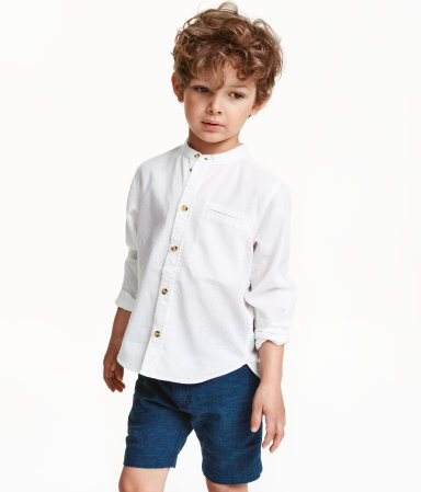 Mandarin Collar Shirt White Kids H Amp M Us