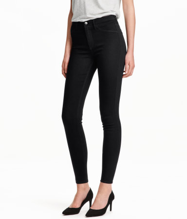 Skinny High Ankle Jeans   Black   Women   H&M US