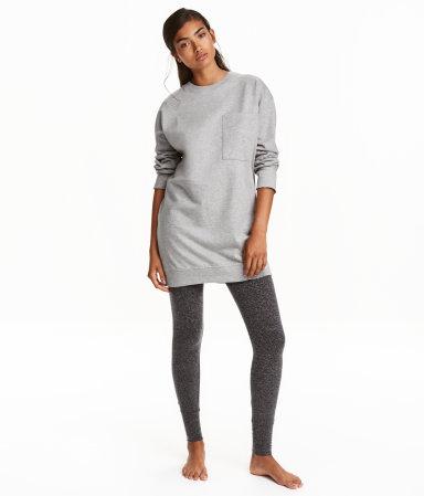 Pajama Top and Leggings   Gray melange   Women