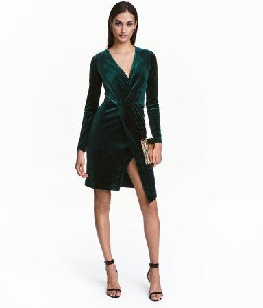 H&M Velur Elbise