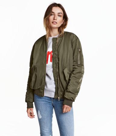 Bomber Jacket Khaki Green Women H Amp M Us