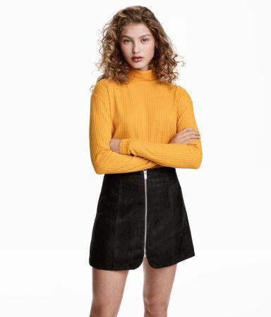 Ribbed Turtleneck Sweater | Yellow | WOMEN | H&M US