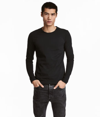 Long & sleeved - T-shirts - Men's Clothing - Shop online | H&M US