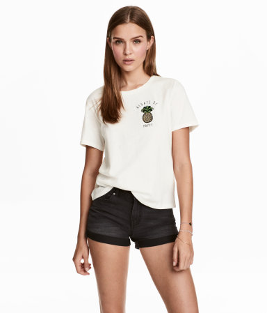 H&M T-shirt with Motif $17.99