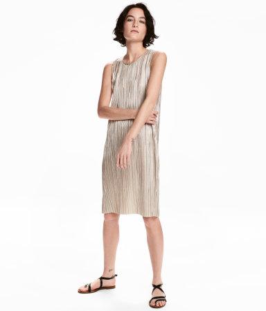 Dress with Metallic Print