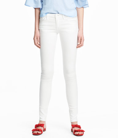 super skinny low jeans h&M