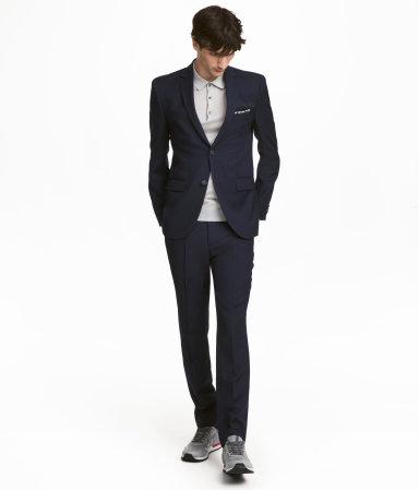 Wool Suit Pants Slim fit