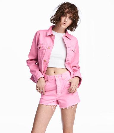 Denim Jacket | Pink denim | SALE | H&M US