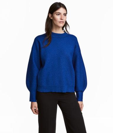 Fine-knit Sweater   Dark blue/glitter   SALE   H&M US
