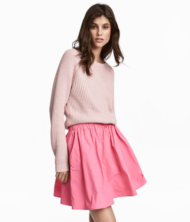 Rib-knit Sweater | Light pink | WOMEN | H&M US