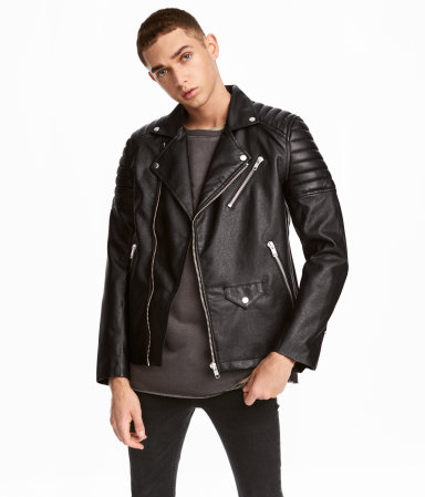 Biker Jacket | Black | MEN | H&M US
