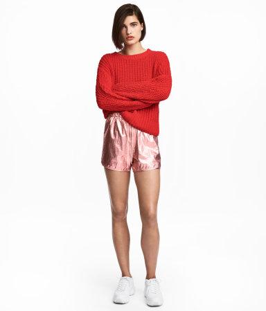 Shimmering Metallic Shorts