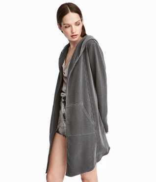 Hooded Sweatshirt Cardigan | Gray | Women | H&M US