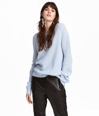 Rib-knit Sweater | Light blue | SALE | H&M US