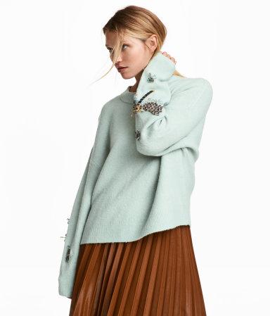 Knit Beaded Sweater