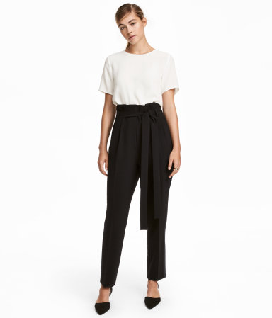 Tuxedo Pants with Belt
