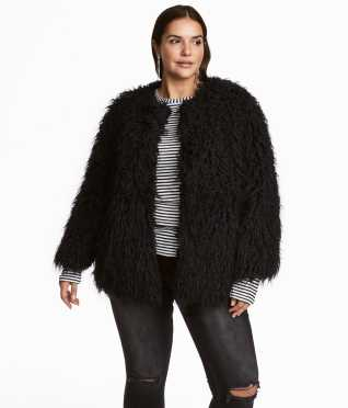Faux Fur Jacket | Black | SALE | H&M US