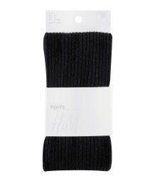 Rib-knit tights